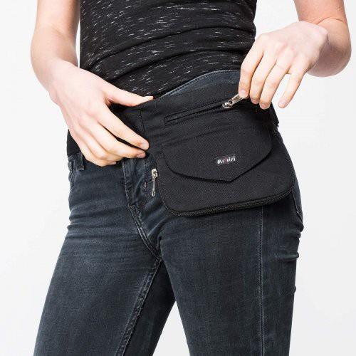 Pochette ceinture London noire