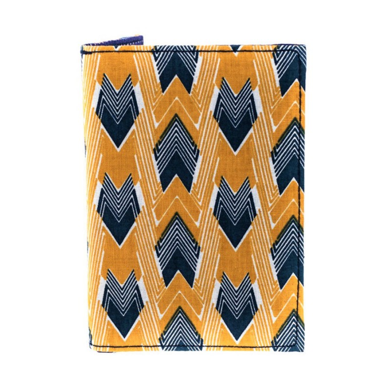 Porte cartes imprimé Bibop & Lula jaune et bleu
