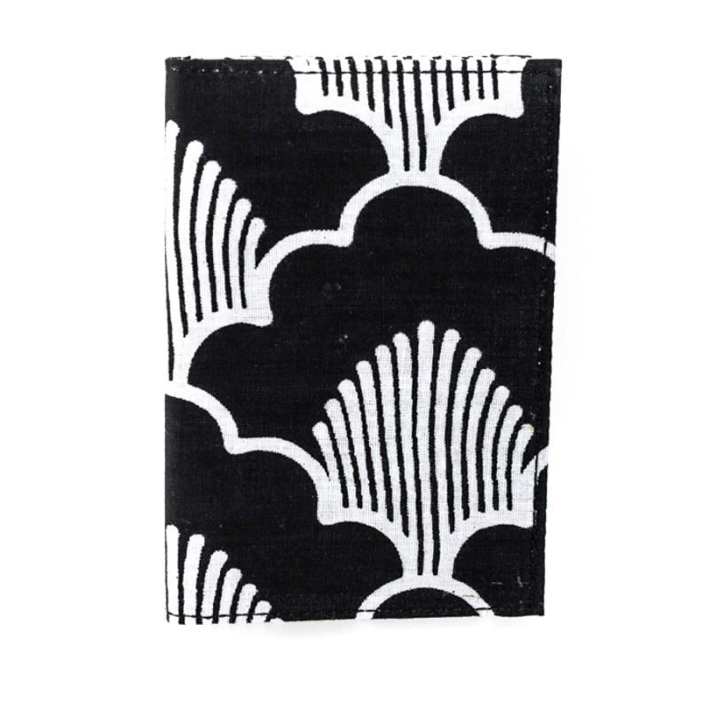 Porte cartes imprimé Bibop & Lula noir et blanc