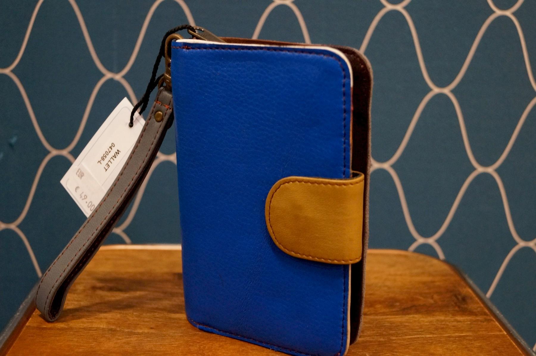 Porte monnaie compact en cuir Soruka