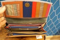 Porte monnaie en cuir multicolore avec petite anse Soruka