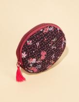 Porte monnaie rond noir et rouge La Fiancée du Mékong, Yazi