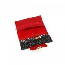 Portefeuille 3 en 1 Lila Bohème rouge