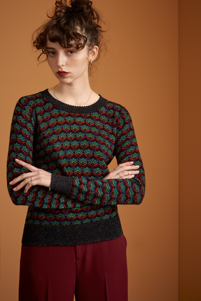 Pull col rond noir King Louie, Agnes Muffin