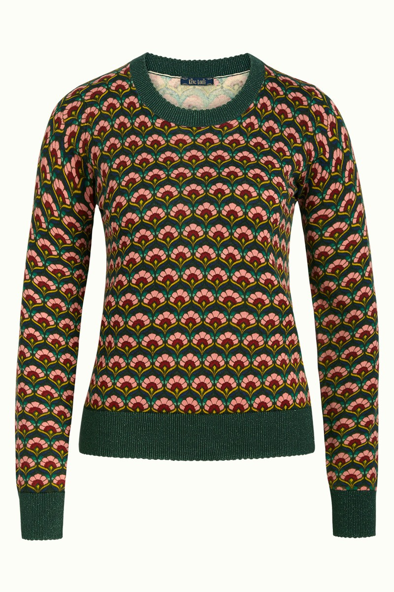 Pull col rond vert King Louie, Agnes Muffin