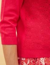 Pull fantaisie rouge La Fiancée du Mékong, Silene capucine