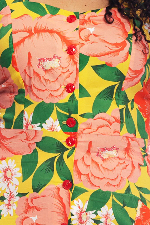 Robe à bretelles Cissi Och selma, Maja grosses fleurs