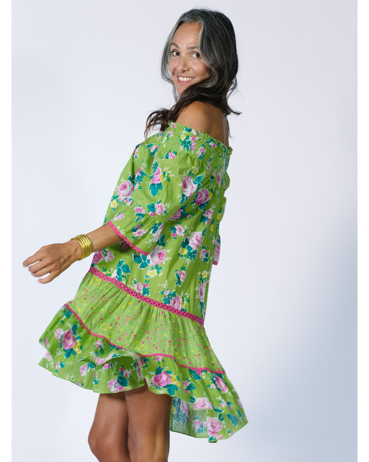 Robe courte / tunique Rhum Raisin, Olive 71