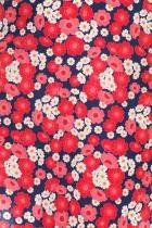 Robe fleurie rouge Cissi Och Selma, Siv rouge