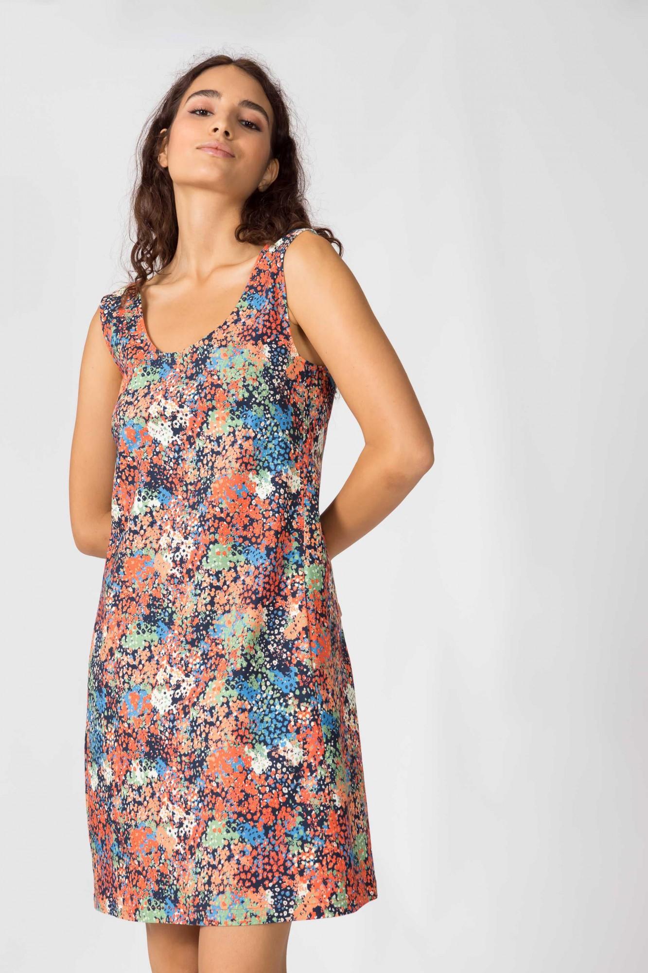Robe fleurie sans manches SKFK, Bioleta