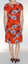 Robe fluide à fleurs Chapati Orange Asian