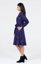 Robe imprimée bleu marine originale Pretty Vacant Trisha