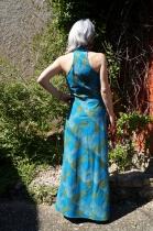 Robe longue bleue et verte Penelop un best Kali Yog