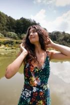 Robe longue fleurie SKFK, Noelia
