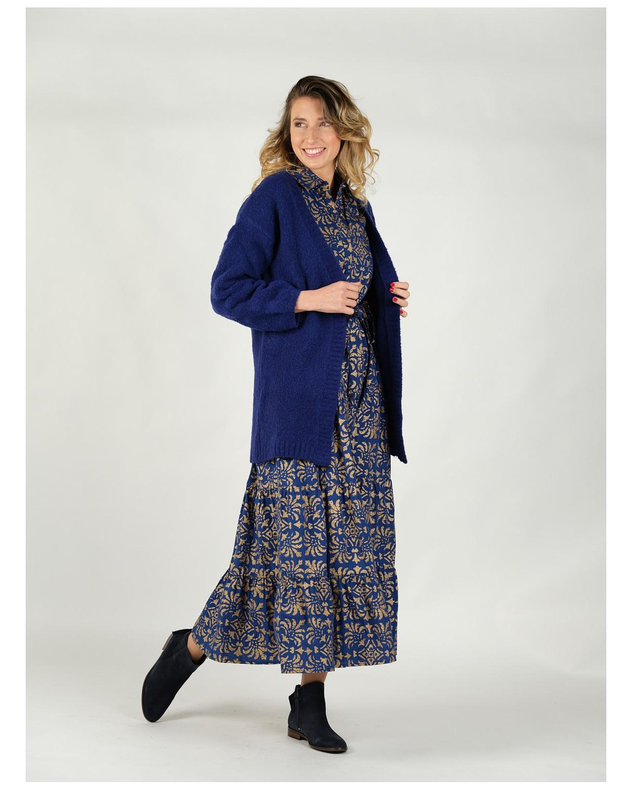 Robe longue romantique Rhum Raisin, Lapis Lazuli 103