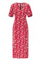 Robe longue rouge écologique Tranquillo Paulina