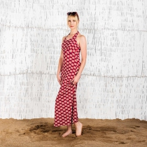 Robe longue rouge Moshiki