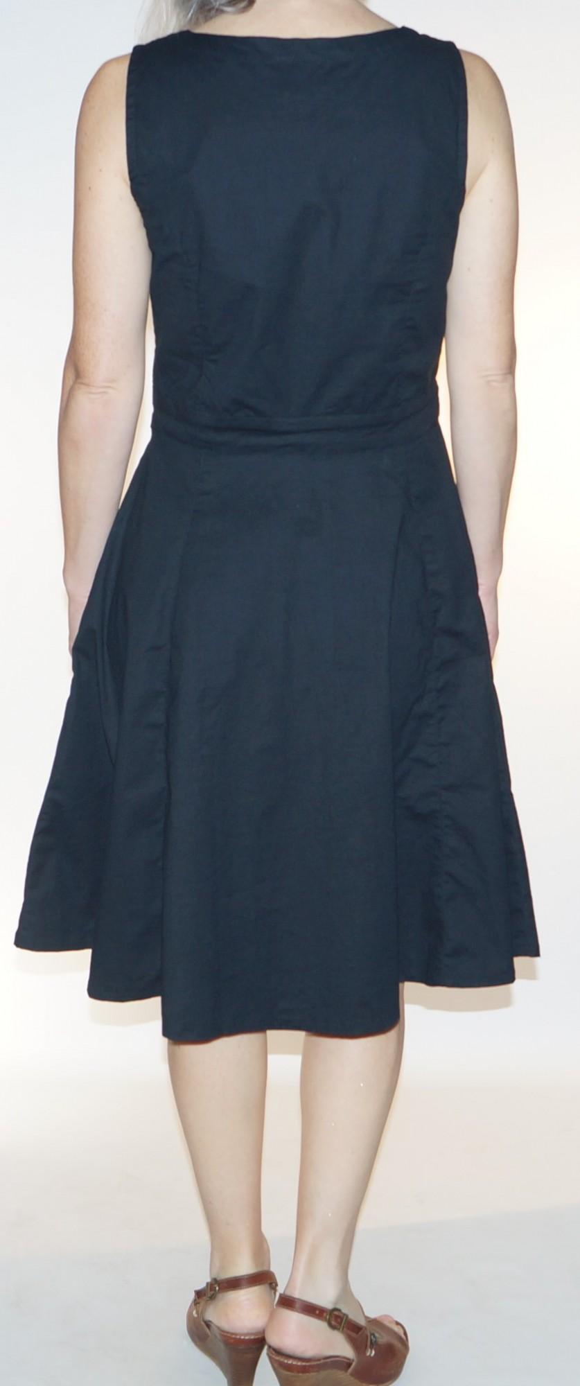 Robe noire sans manches Princesse Nomade