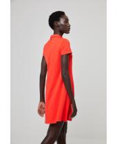 Robe orange col polo Surkana