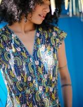 Robe originale La Fiancée du Mékong, Yriana bleu