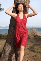 Robe rouge dos nageur Lingam