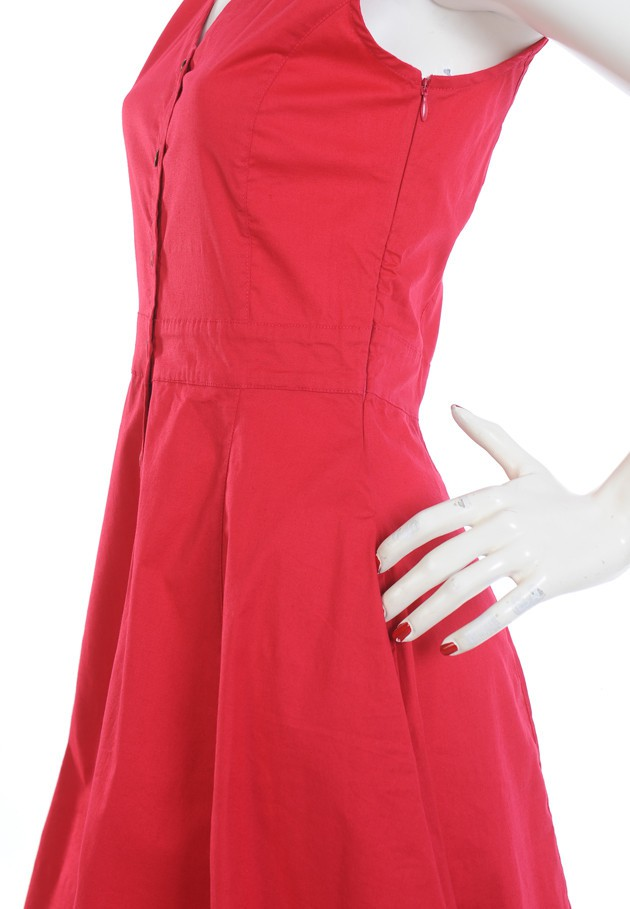 Robe rouge sans manches Princesse Nomade
