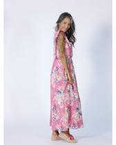 Robe sans manches fleurie Rhum Raisin, Valensole 110