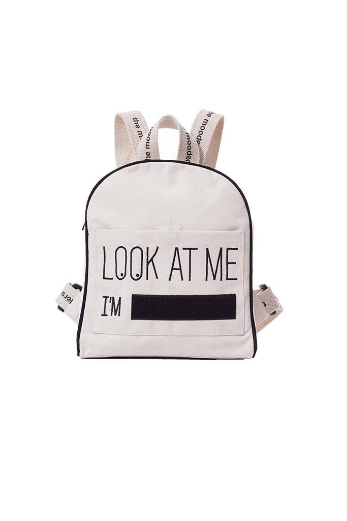 Sac à dos Mood Bag écru en coton Bio Pomkin
