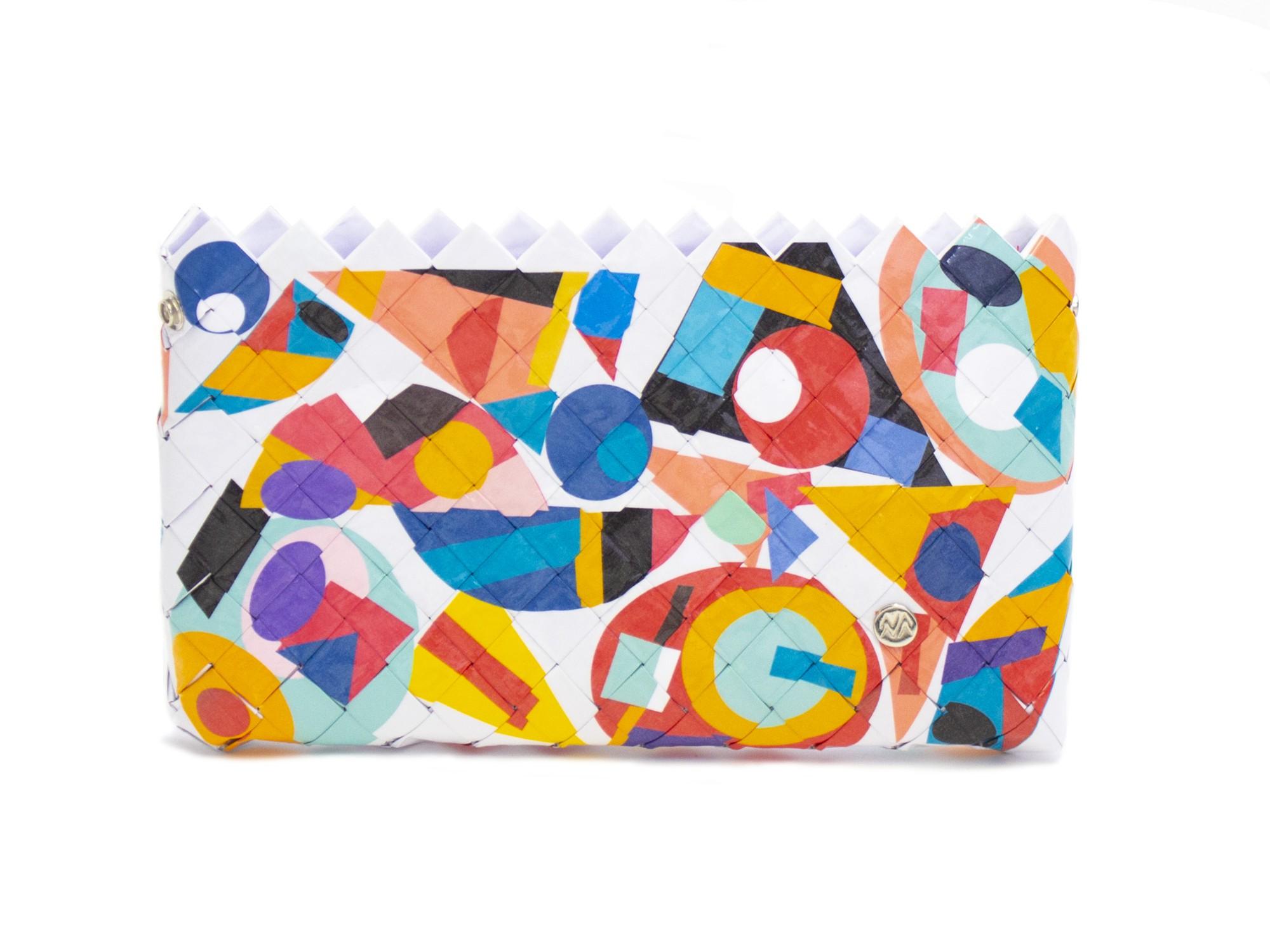 Sac à main / Pochette à fond blanc Twister Naona