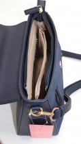 Sac à main cuir bleu marine Naf Naf, un sac à main chic