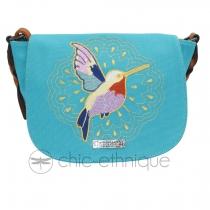 Sac à rabat colibri bleu Les Tropéziennes