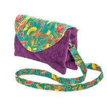 Sac double zip velours violet et vert Bibop et Lula