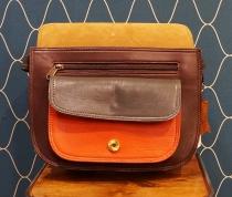 Sac médium multicolore artisanal cuir Soruka