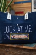 Sac Mood Bag marine en coton Bio Pomkin