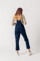 Salopette femme bleu foncé coton bio Dungarees