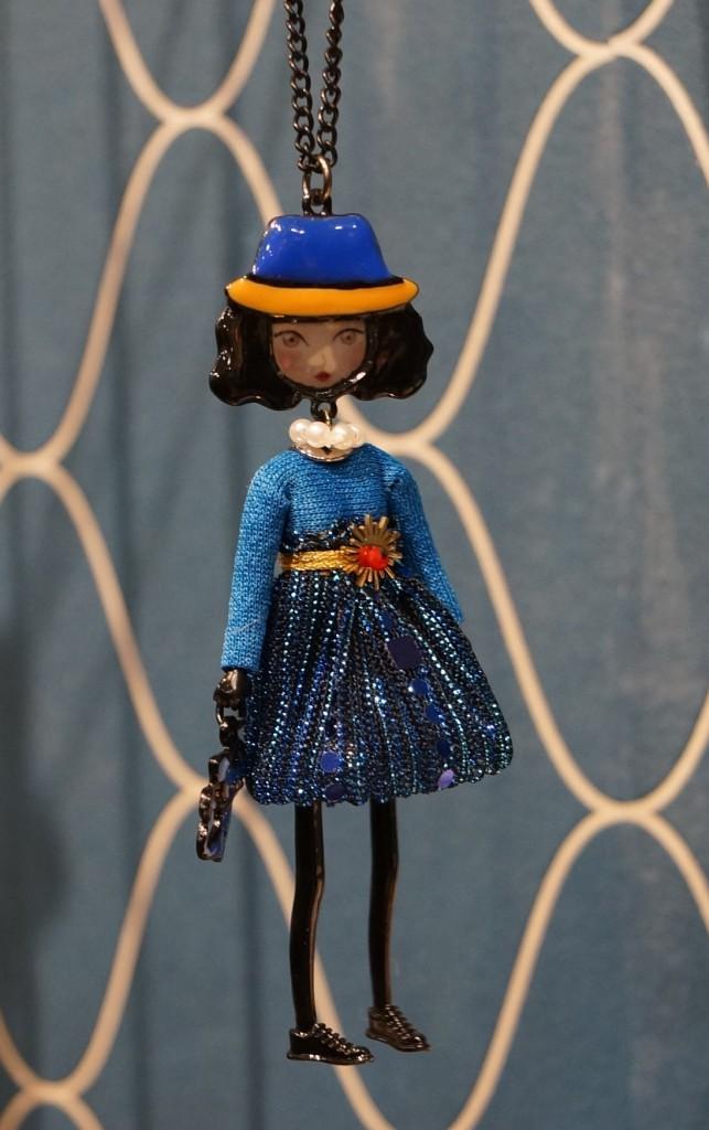 Sautoir Pépette bleu brillante Lol Bijoux