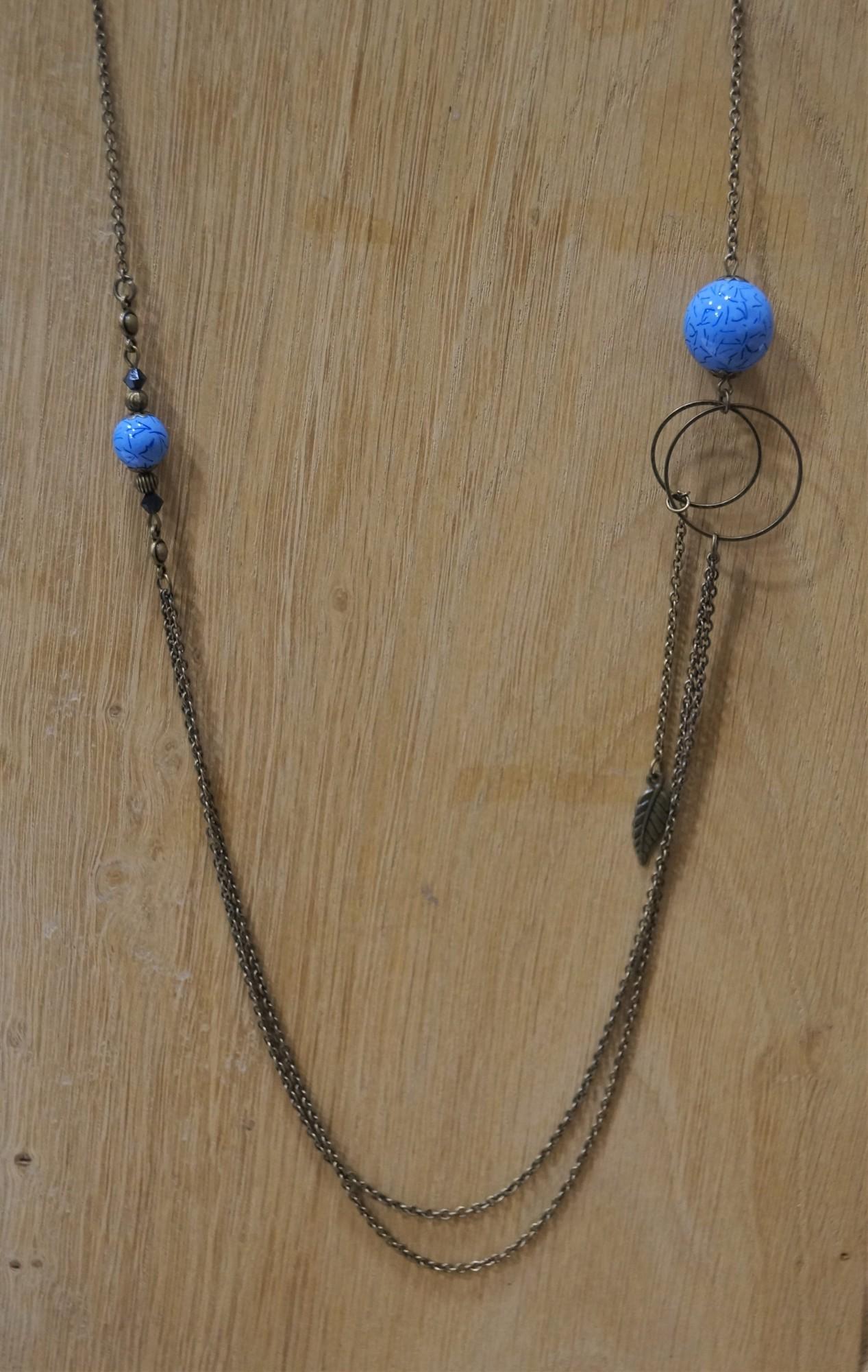 Sautoir perles bluelight Elmalao
