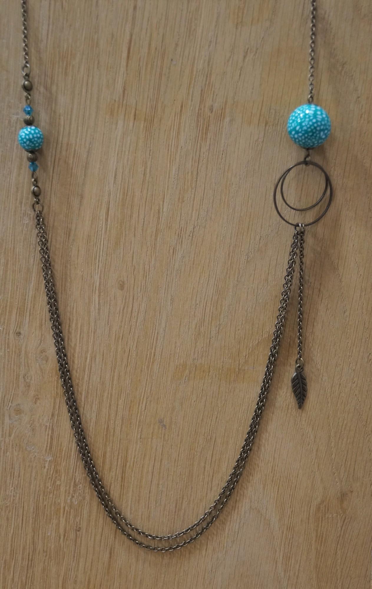 Sautoir perles seventies Elmalao
