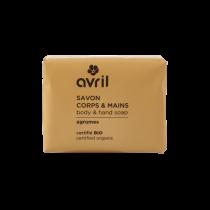 Savon corps & mains Agrumes 100g - Certifié bio  Avril cosmétique