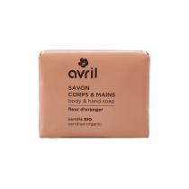 Savon corps & mains Fleur d\'oranger 100g - Certifié bio Avril cosmétique