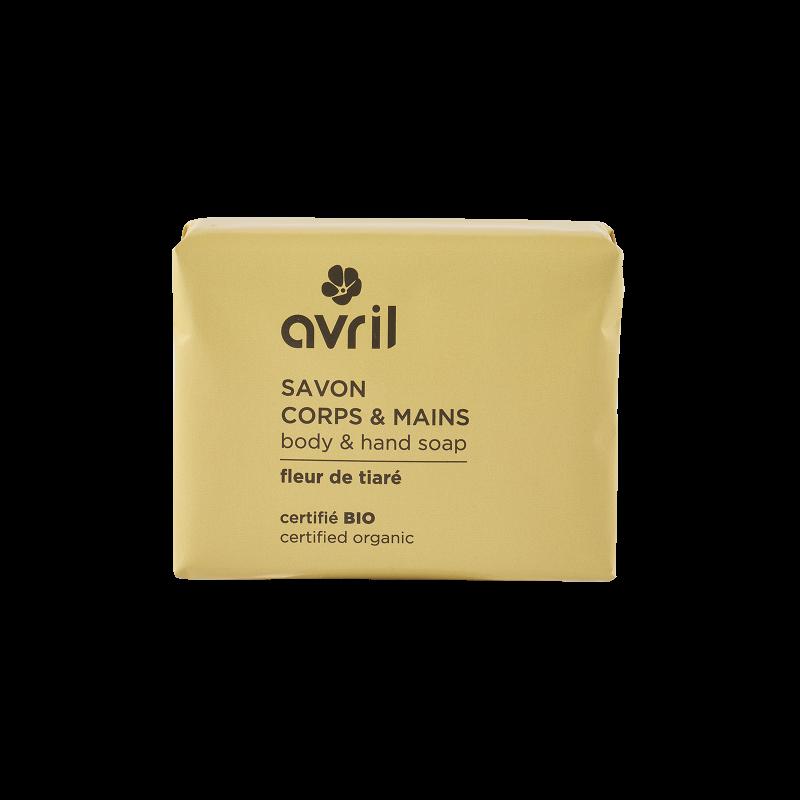 Savon corps & mains Fleur de Tiaré 100g certifié Bio Avril cosmétique