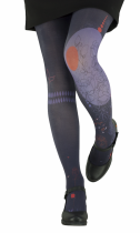Solid and Original tights from Lili Gambettes purple Flower