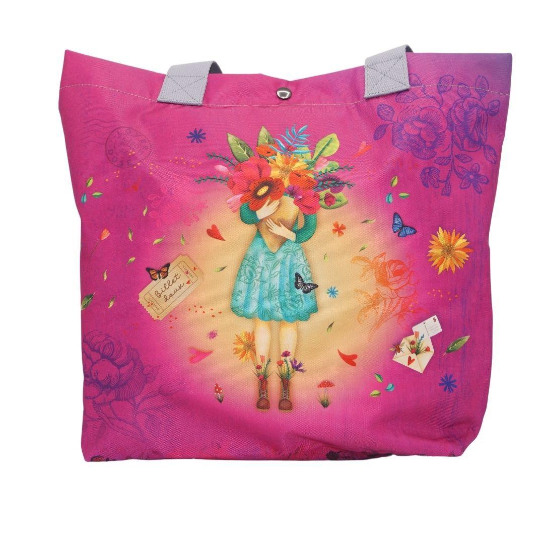 Superbe sac cabas Fleur mon Amour- Atelier de Noémi