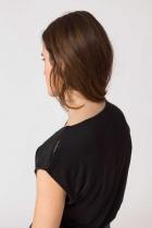 T-shirt Itsaso noir en lin SKFK