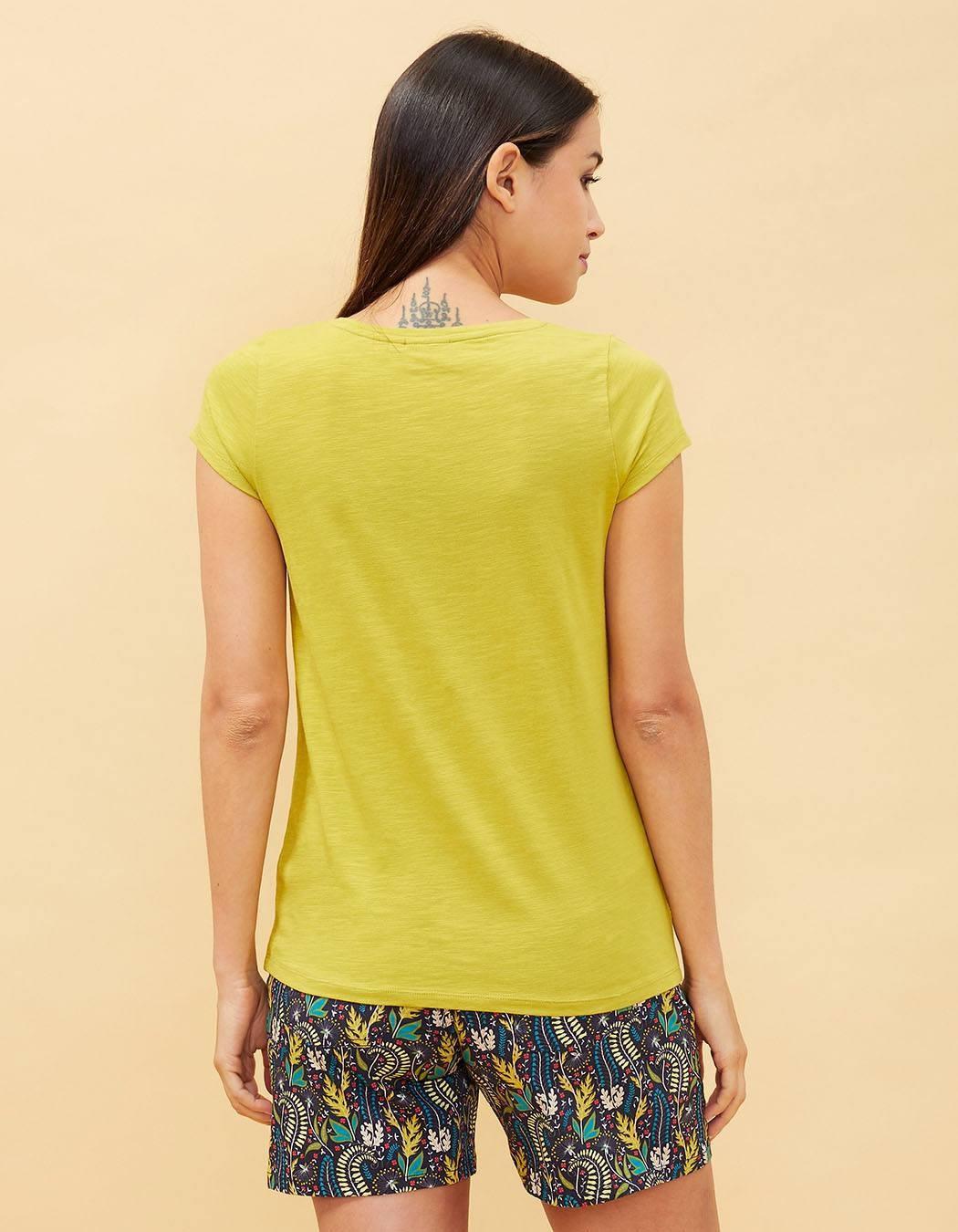 T-shirt uni chartreuse La Fiancée du Mékong (vert/jaune)