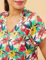 Top femme imprimé La Fiancée du mékong, Jirani palmier