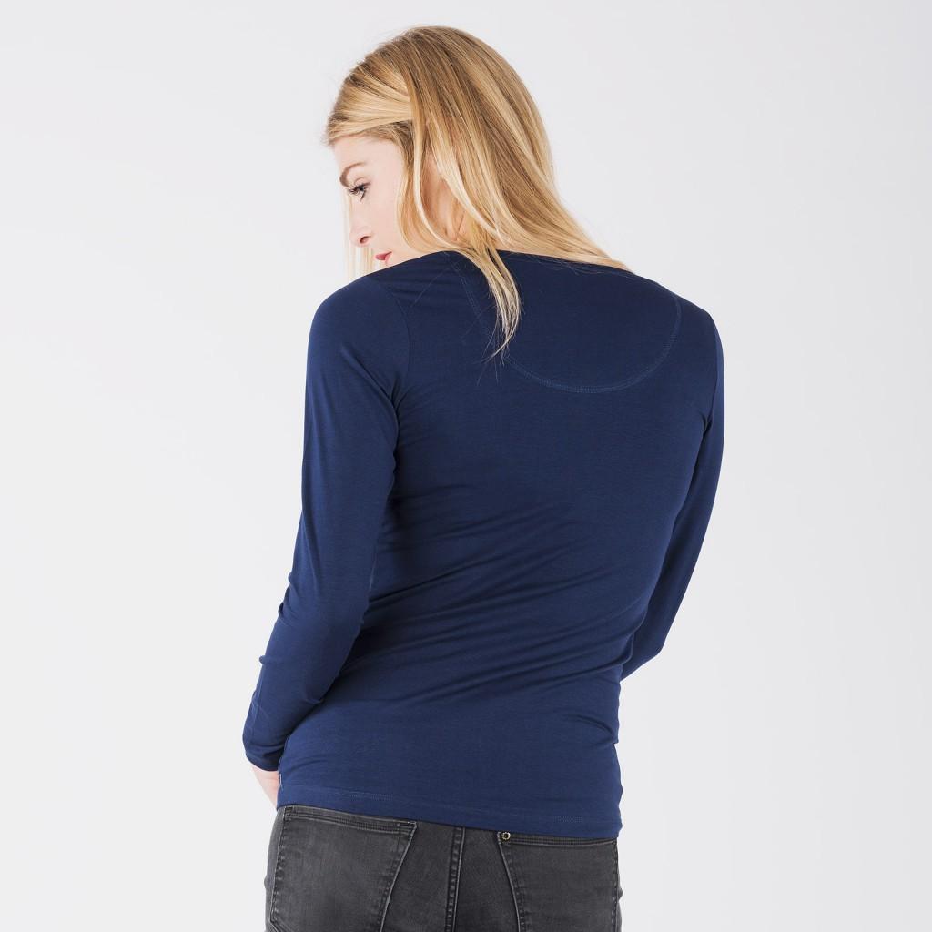Tshirt bleu foncé coton Bio Moshiki