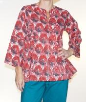 Tunique femme rouge Kali Yog Tata