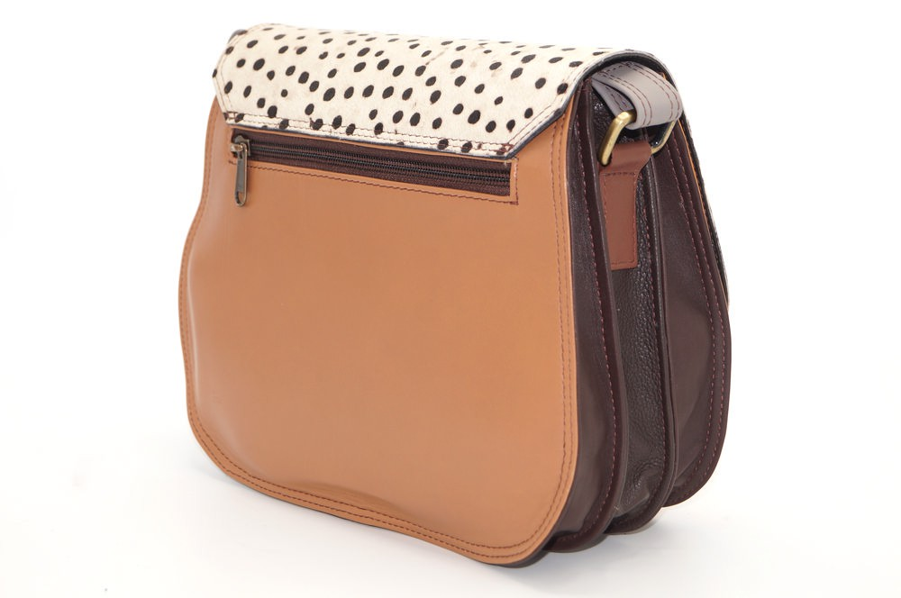 women\'s shoulder bag with three leather compartments, a unique and original bag 13