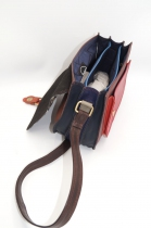 women\'s shoulder bag with three leather compartments, a unique and original bag 16